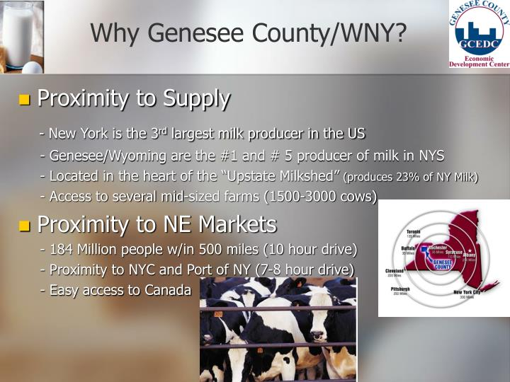 Why Genesee County/WNY?