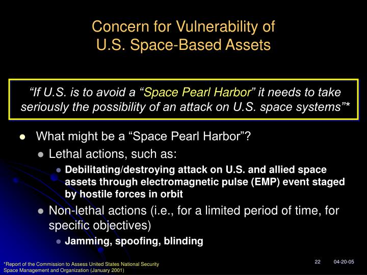 Concern for Vulnerability of