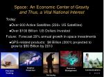 space an economic center of gravity and thus a vital national interest