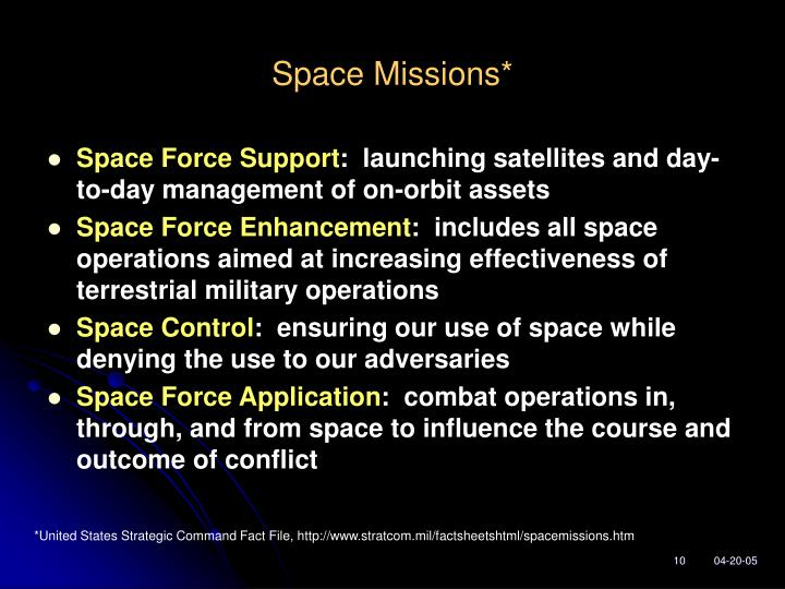 Space Missions*
