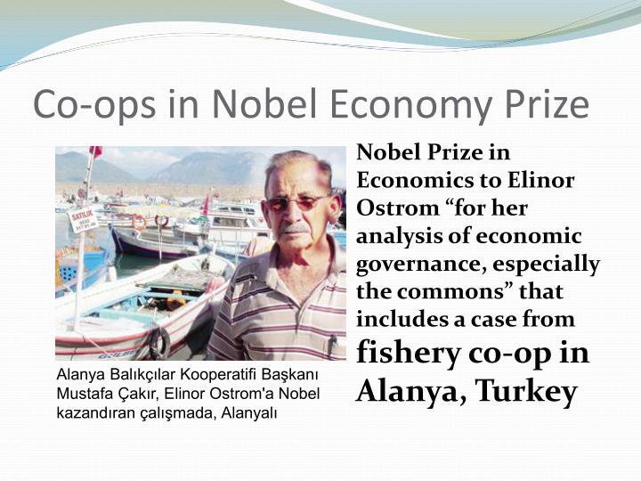Co-ops in Nobel Economy Prize