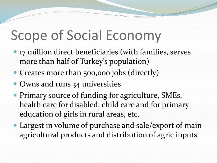 Scope of Social Economy