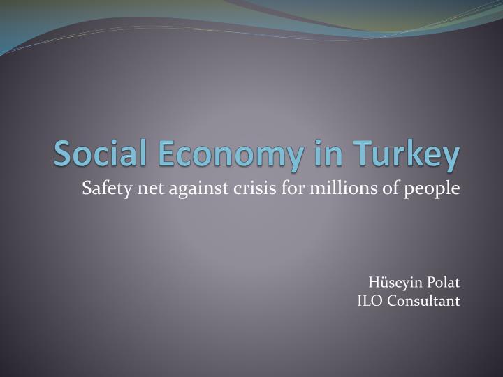 Social Economy in Turkey