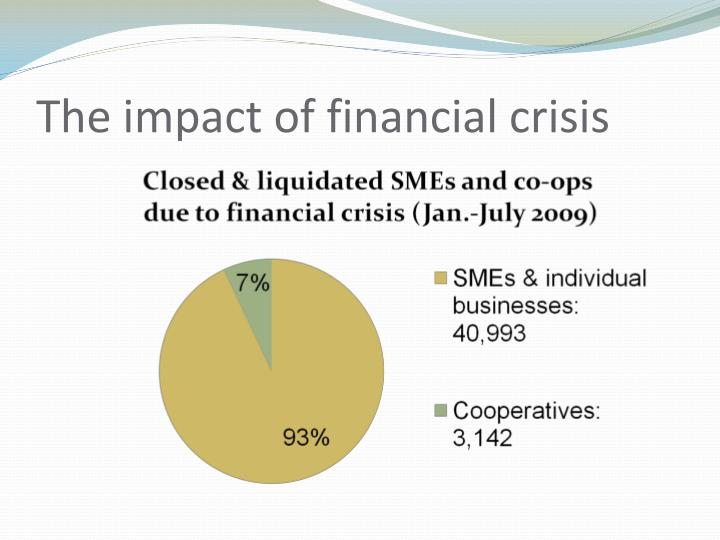 The impact of financial crisis