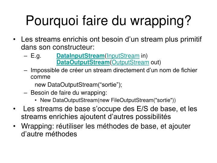Pourquoi faire du wrapping?
