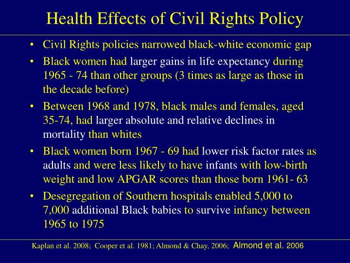 Health Effects of Civil Rights Policy