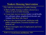 yonkers housing intervention