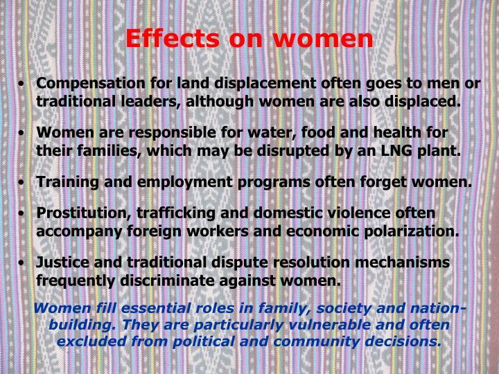Effects on women