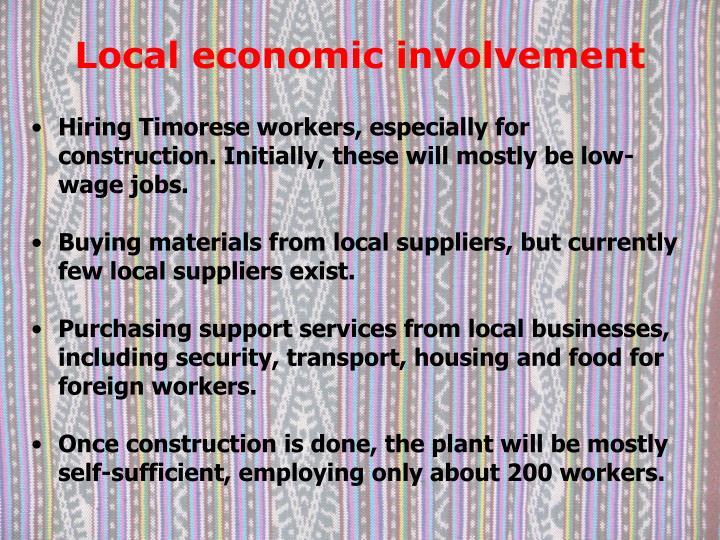 Local economic involvement