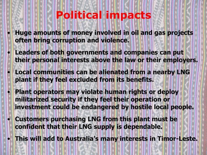Political impacts
