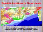 possible locations in timor leste