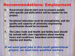 recommendations employment