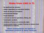 risks from lng in tl
