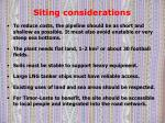 siting considerations