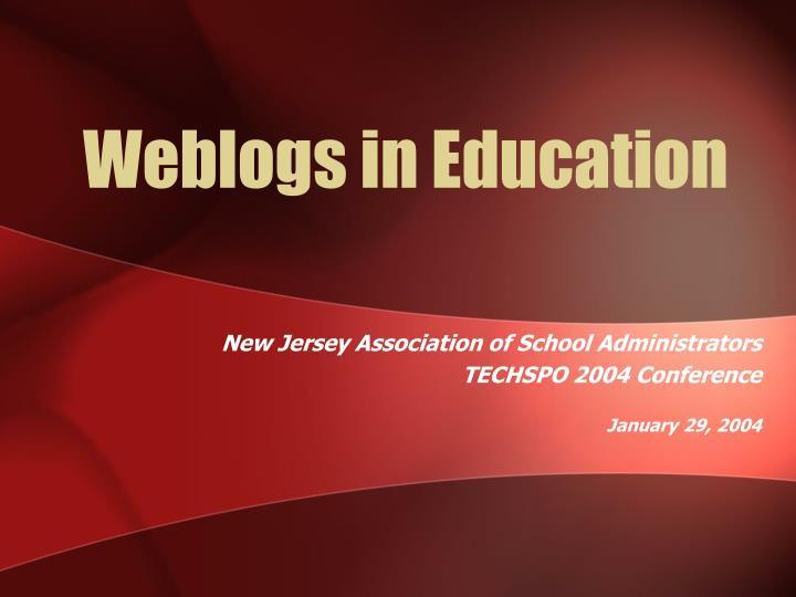 weblogs in education