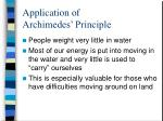 application of archimedes principle