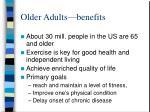 older adults benefits