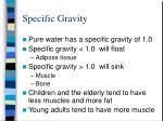 specific gravity1