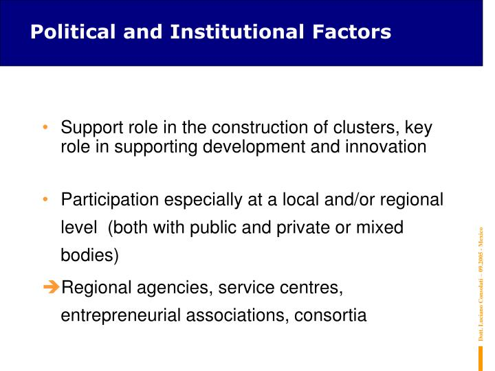 Political and Institutional Factors
