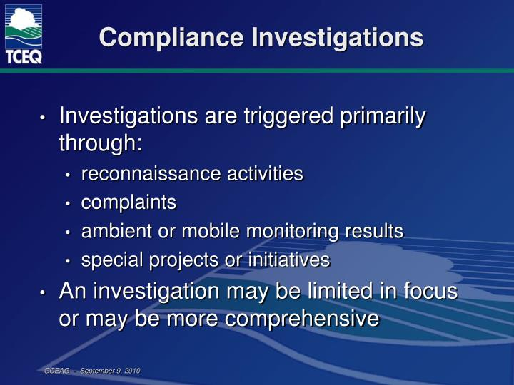 Compliance Investigations