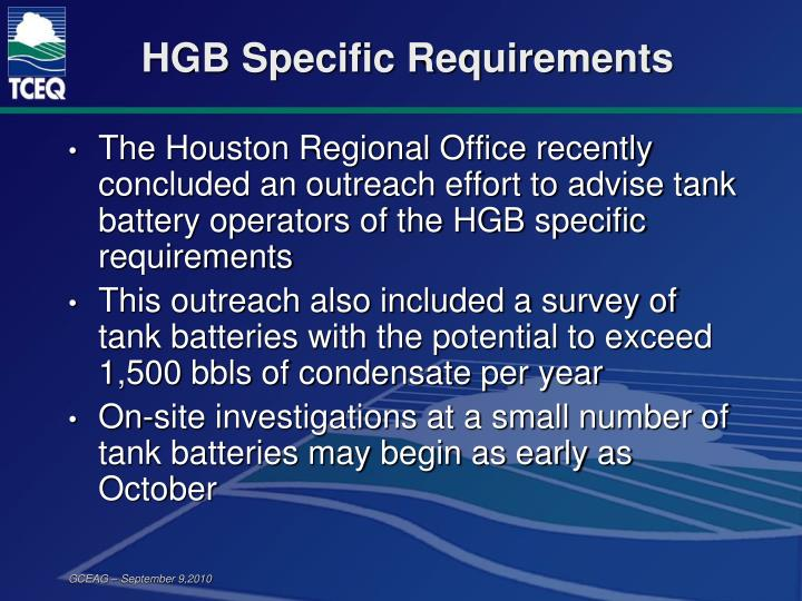HGB Specific Requirements