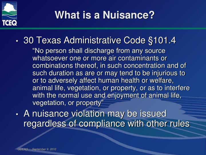 What is a Nuisance?