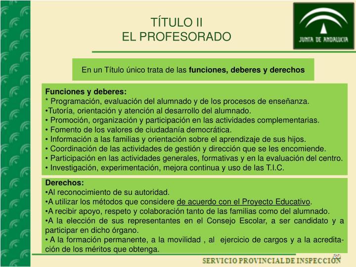 TÍTULO II