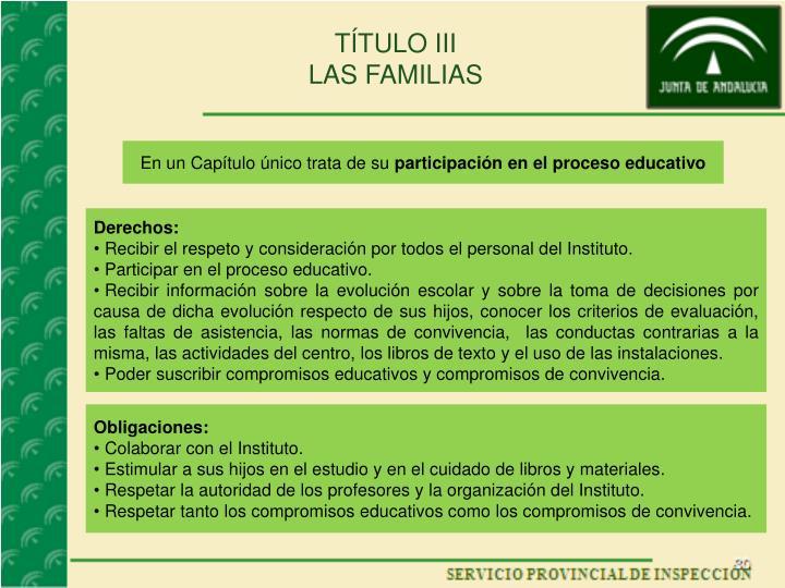 TÍTULO III