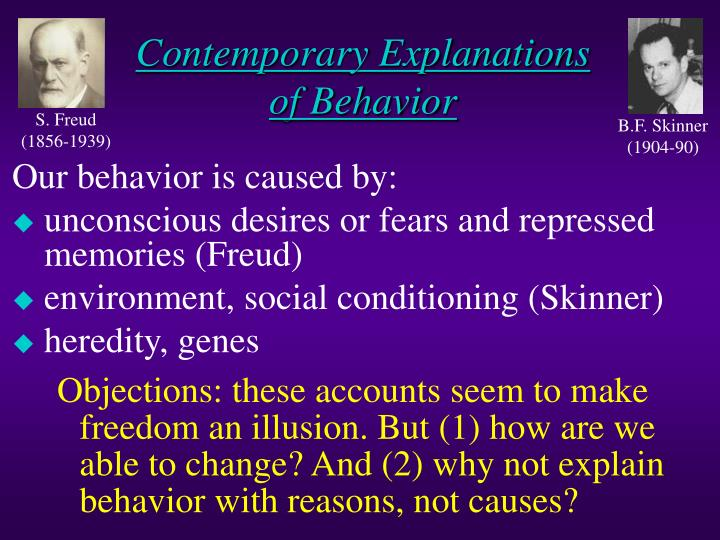 Contemporary Explanations of Behavior