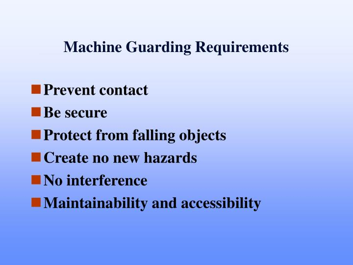 Machine Guarding Requirements