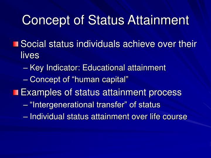Concept of Status Attainment