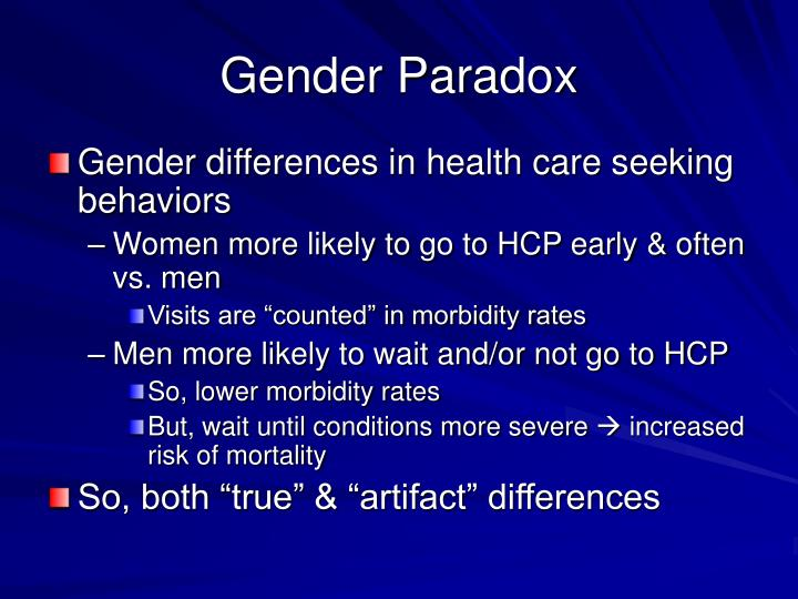Gender Paradox