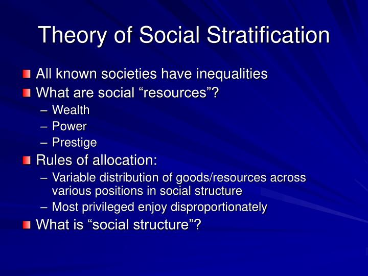 Theory of Social Stratification