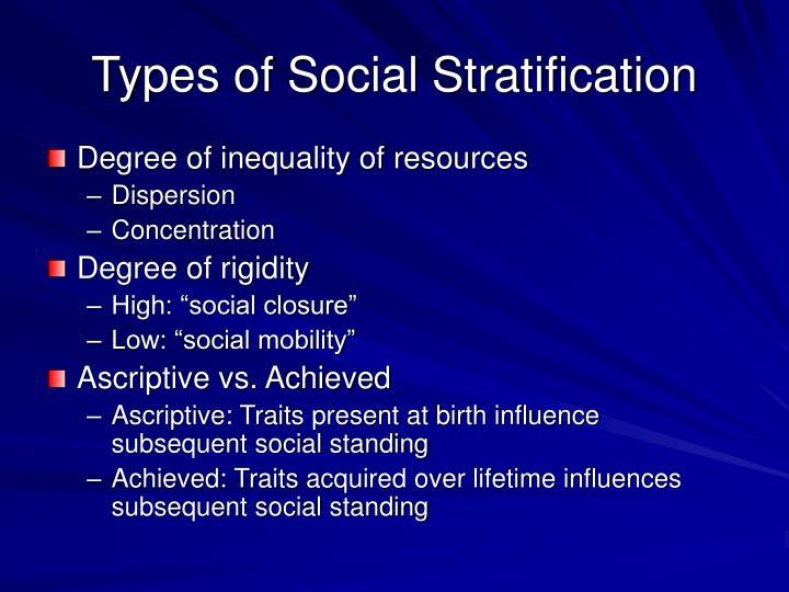 Types of Social Stratification