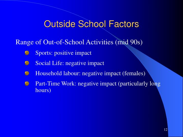 Outside School Factors