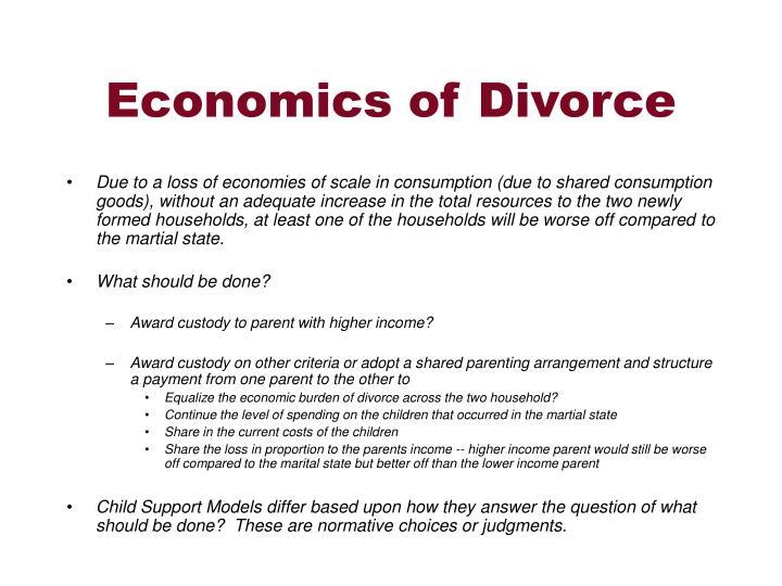 Economics of Divorce