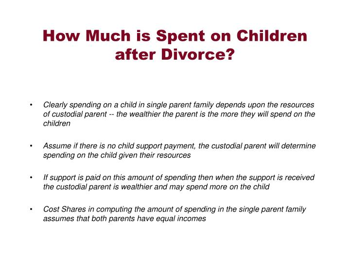 How Much is Spent on Children after Divorce?