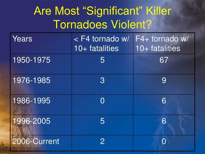 "Are Most ""Significant"" Killer Tornadoes Violent?"