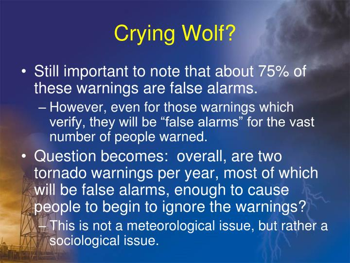 Crying Wolf?