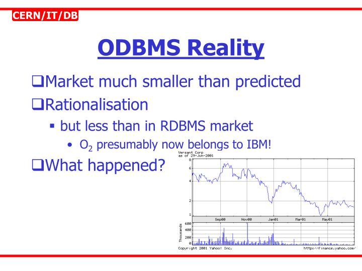 ODBMS Reality
