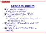 oracle 9i studies