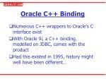 oracle c binding