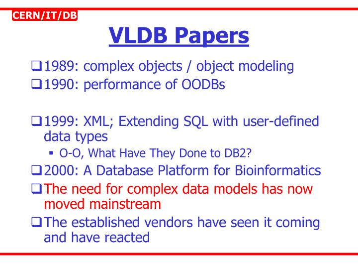 VLDB Papers