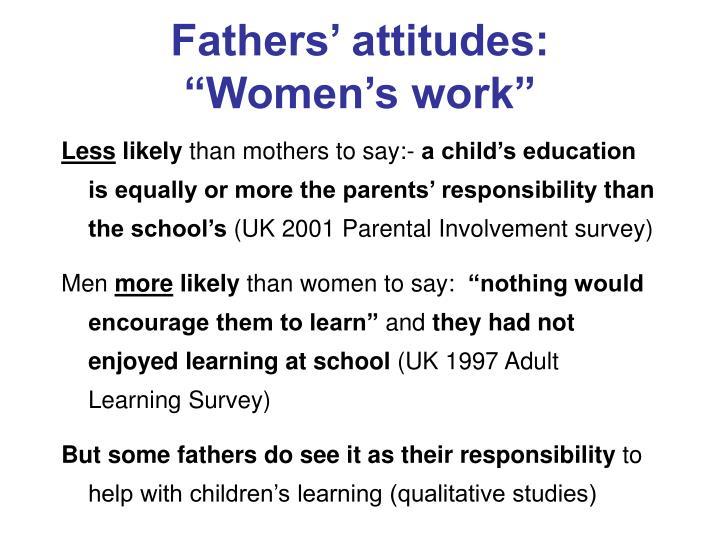 Fathers' attitudes: