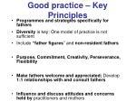 good practice key principles