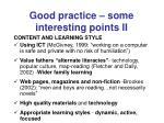 good practice some interesting points ii