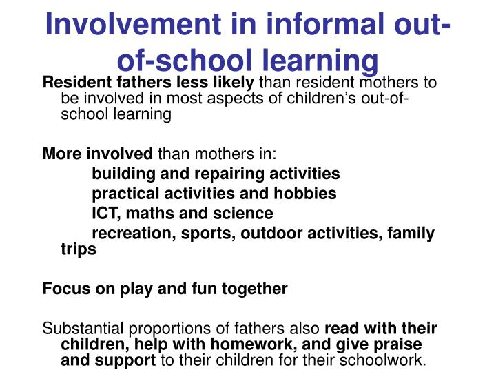 Involvement in informal out-of-school learning
