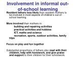involvement in informal out of school learning