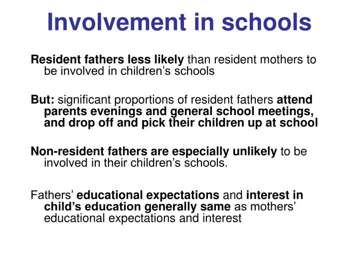 Involvement in schools