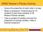 aims reese s pieces activity